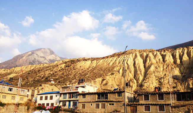 Outside the Airport - Jomsom